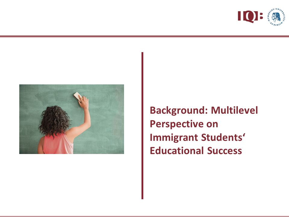 Proportion of non-immigrant students Proportion of immigrant students SeparationIntegration Separation Composition of student body in classrooms 45