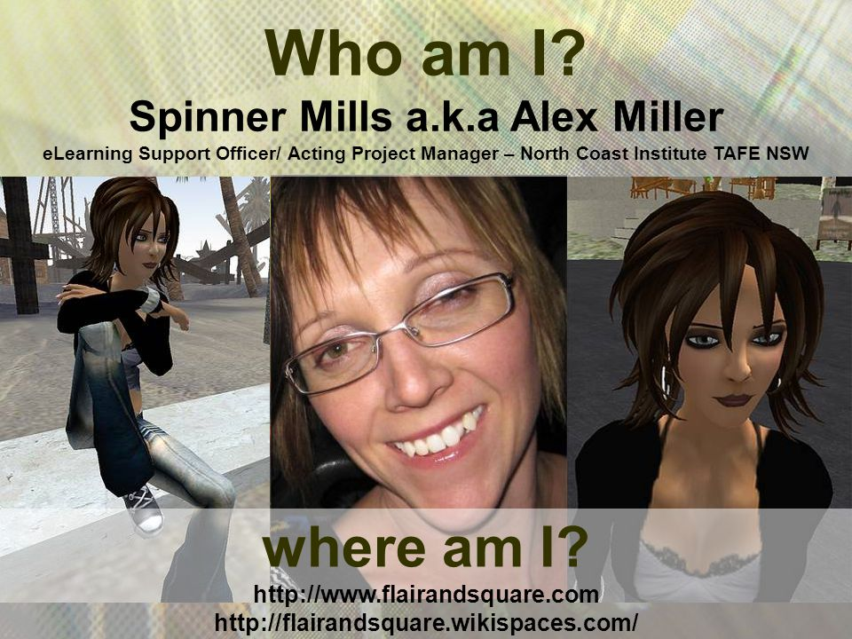 where am I. http://www.flairandsquare.com http://flairandsquare.wikispaces.com/ Who am I.