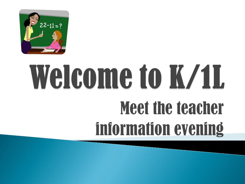 Meet the teacher information evening