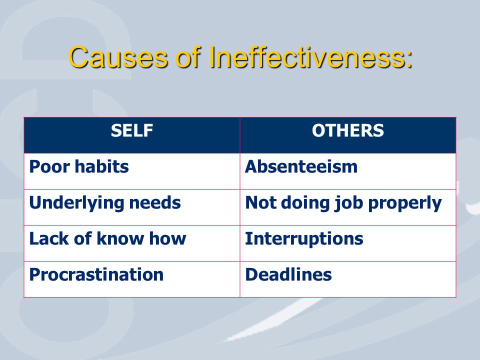 8 Time Effectiveness Barriers 1.Lose creativity 2.