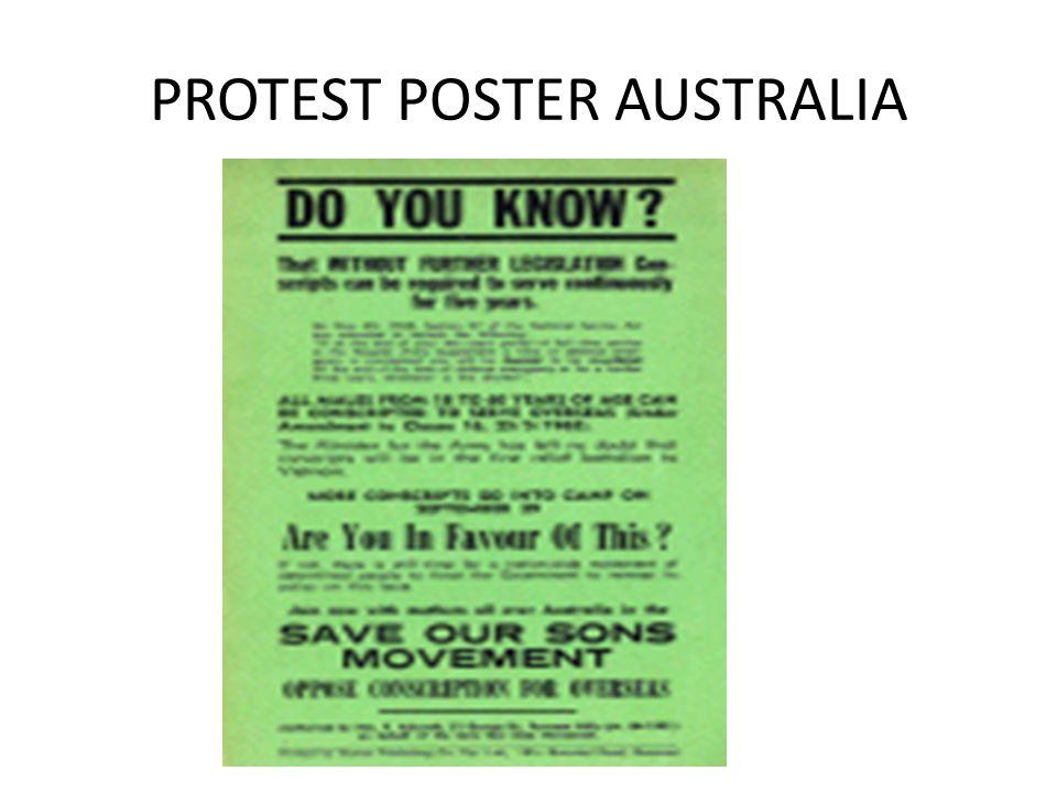 PROTEST POSTER AUSTRALIA
