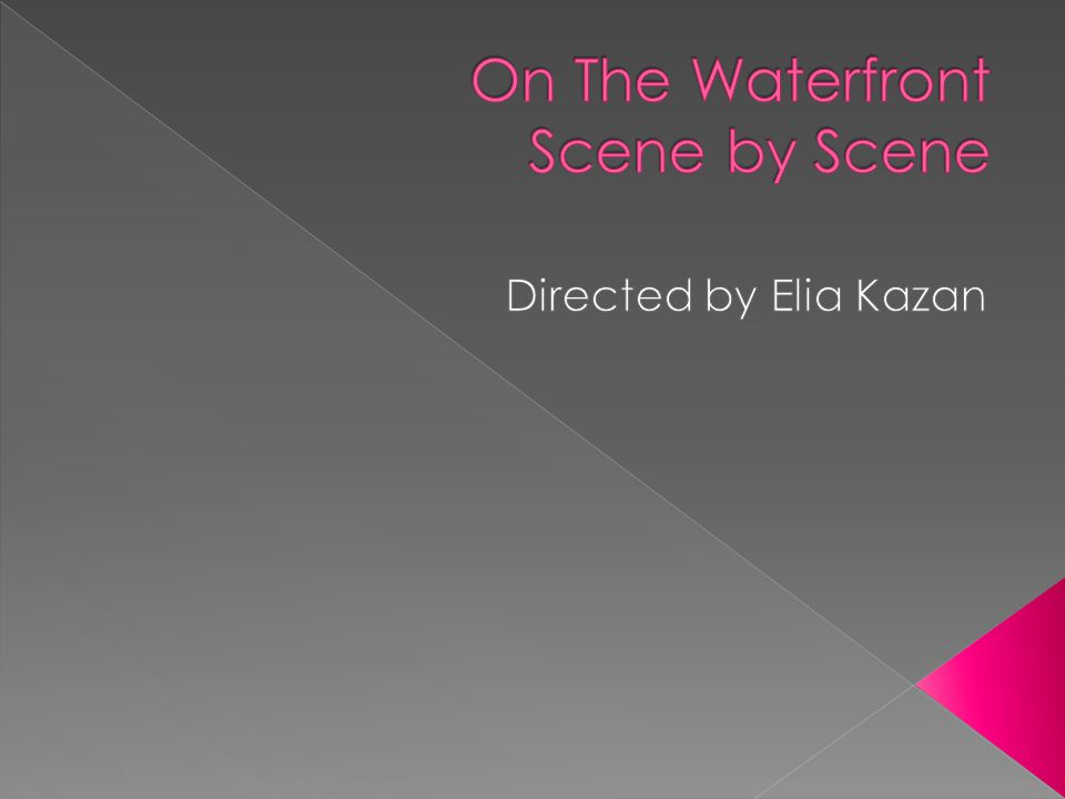  Opening shots set the scene for the film.