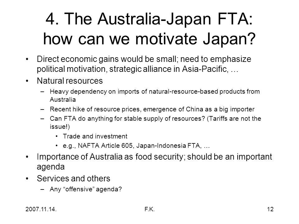 2007.11.14.F.K.12 4.The Australia-Japan FTA: how can we motivate Japan.