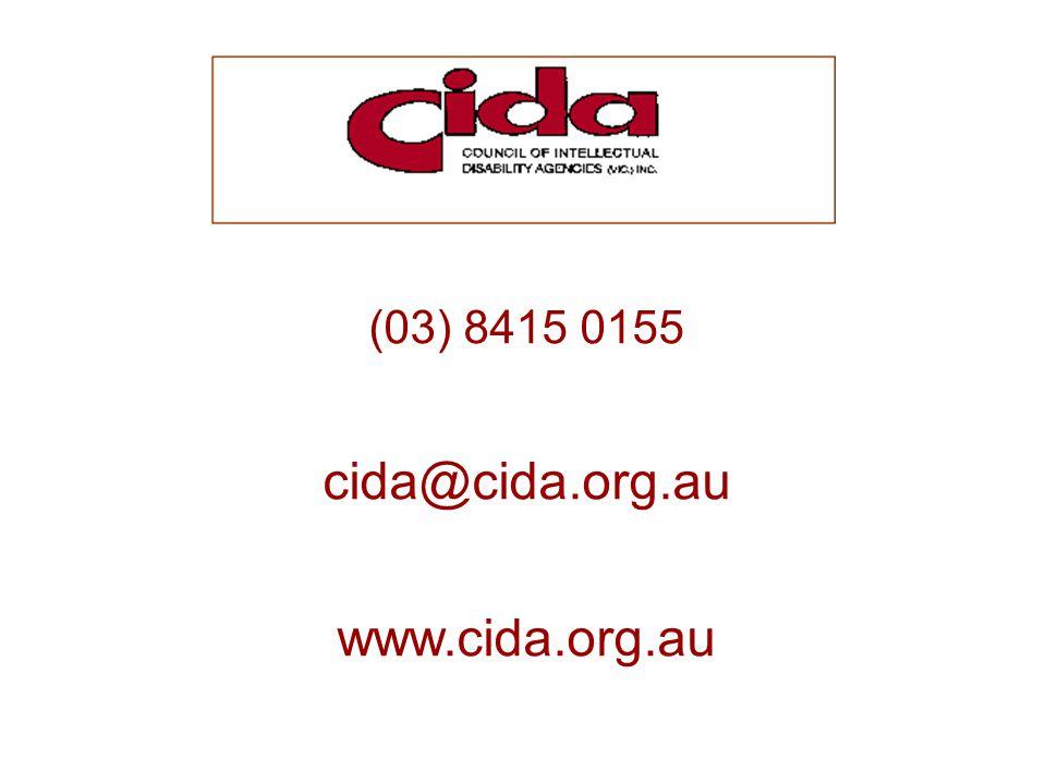 (03) 8415 0155 cida@cida.org.au www.cida.org.au