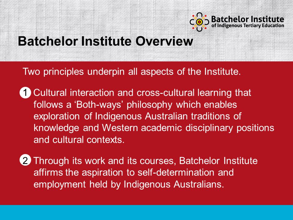 Two principles underpin all aspects of the Institute.