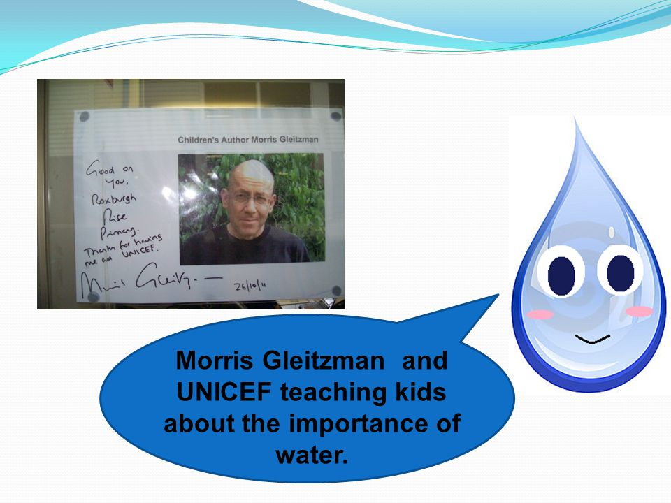 Morris Gleitzman and UNICEF teaching kids about the importance of water.