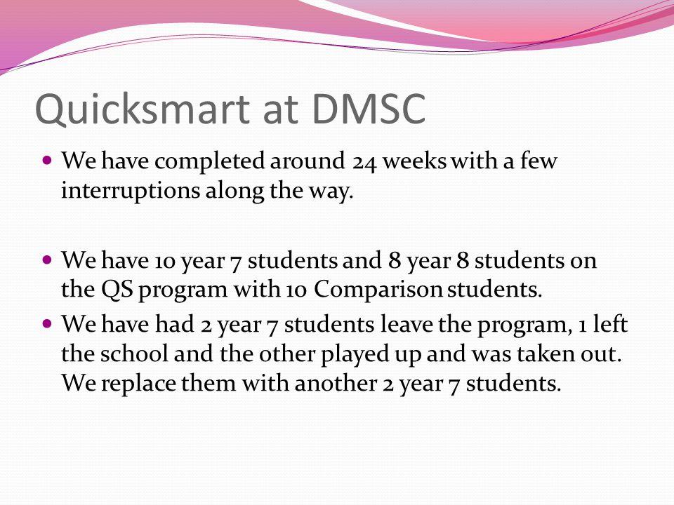 QS at DMSC cont.