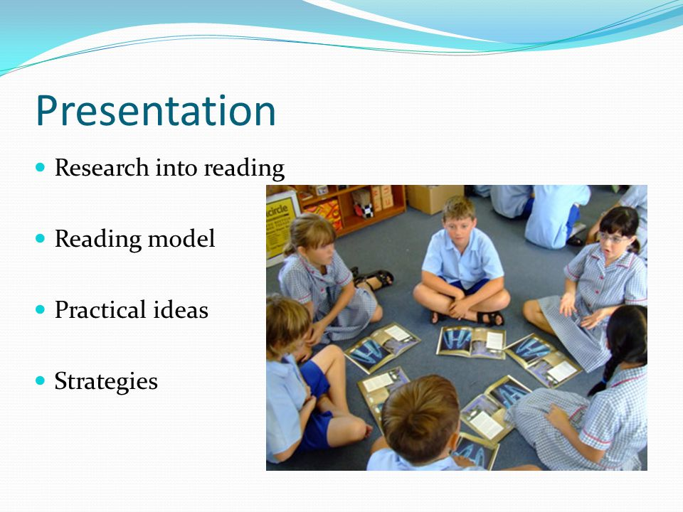 Presentation Research into reading Reading model Practical ideas Strategies