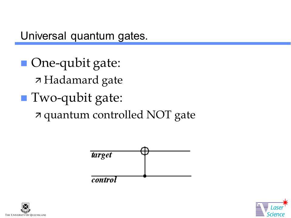 Universal quantum gates.