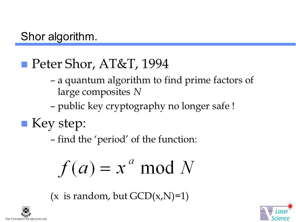 Shor algorithm.
