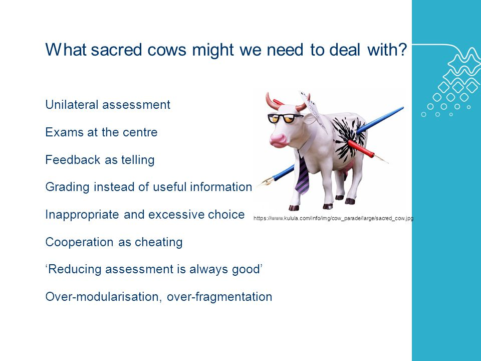 AUSTRALIAN LEARNING AND TEACHING COUNCIL What sacred cows might we need to deal with.