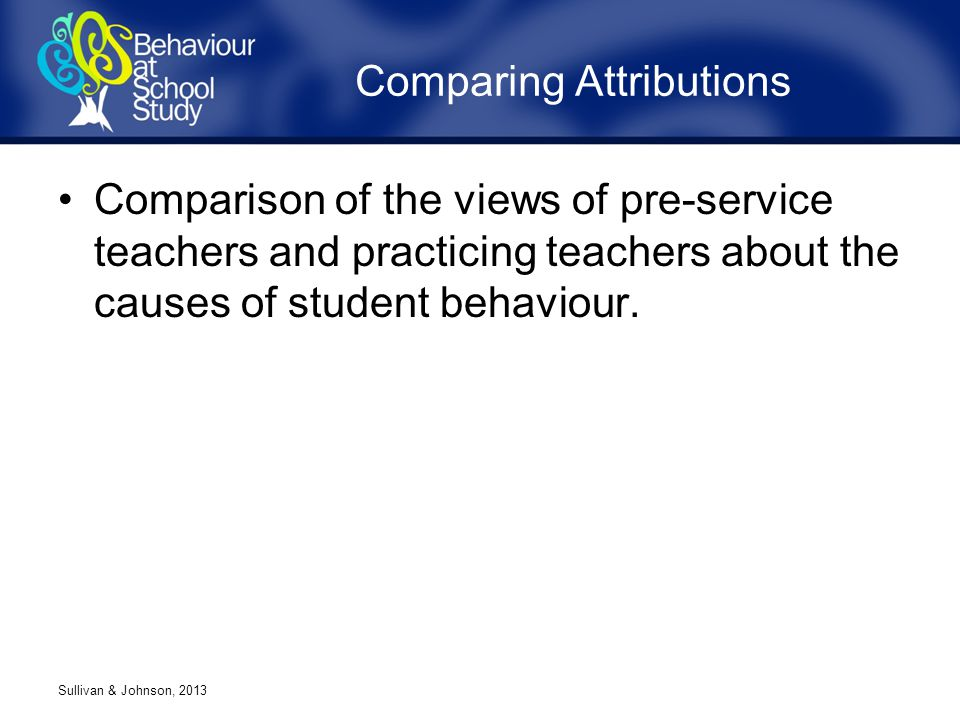 Comparison of the views of pre-service teachers and practicing teachers about the causes of student behaviour.