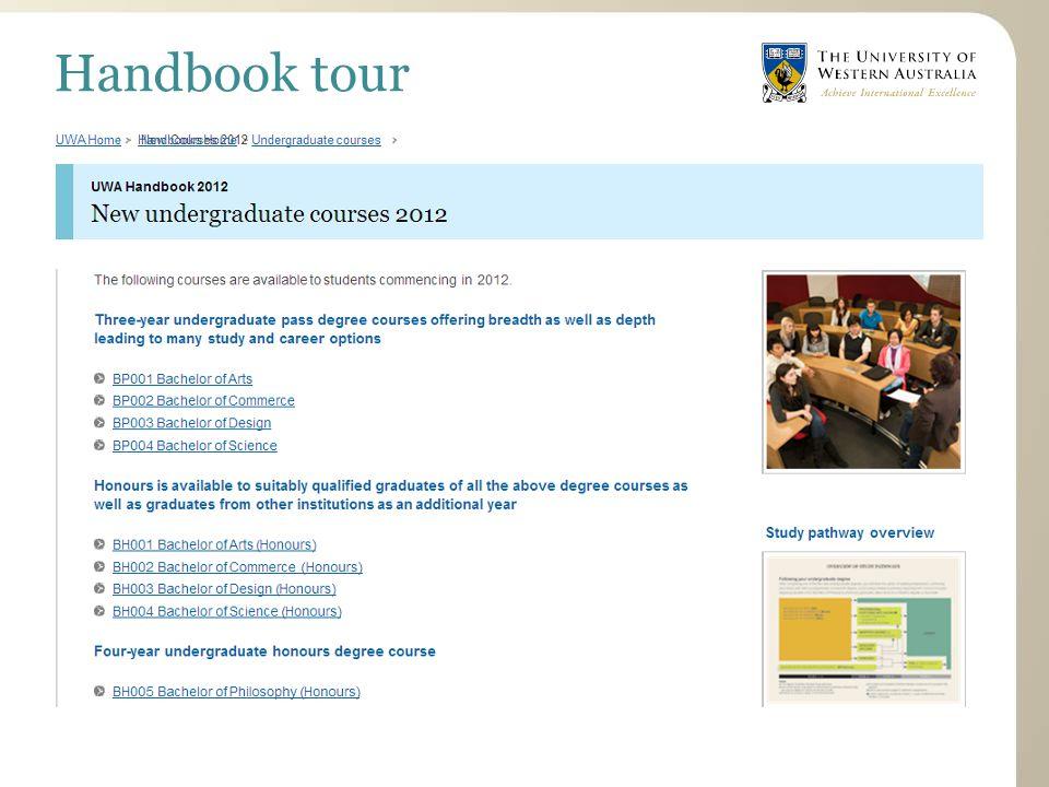 Handbook tour
