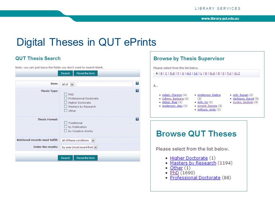 www.library.qut.edu.au LIBRARY SERVICES http://eprints.qut.edu.au/41494/