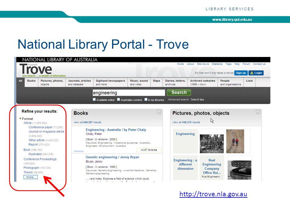 www.library.qut.edu.au LIBRARY SERVICES