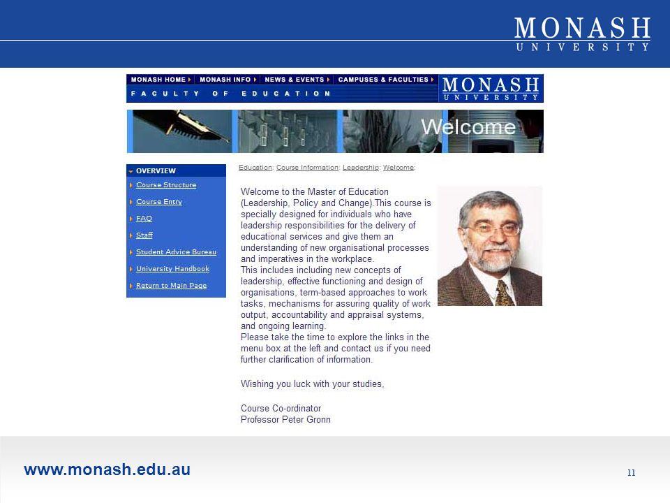 www.monash.edu.au 11