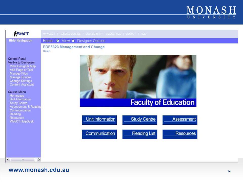 www.monash.edu.au 14