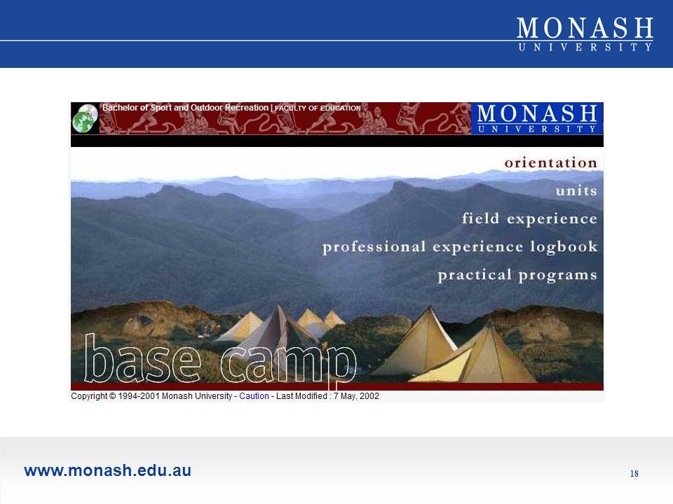 www.monash.edu.au 18