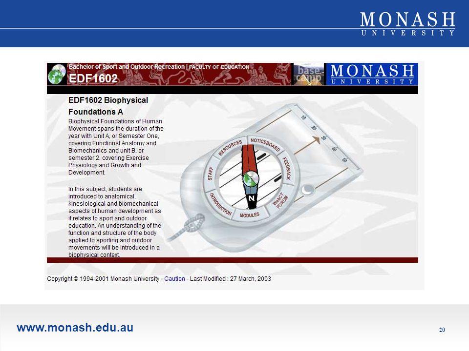 www.monash.edu.au 20