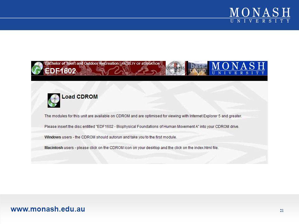 www.monash.edu.au 21