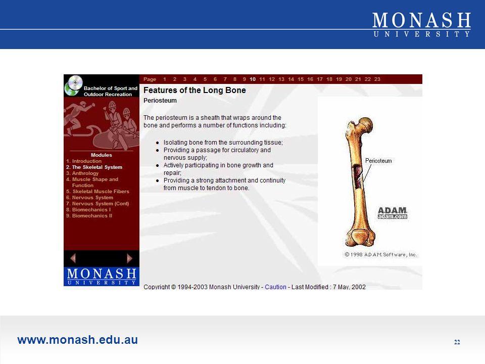 www.monash.edu.au 22