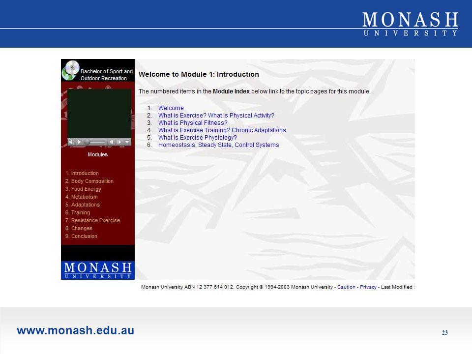 www.monash.edu.au 23