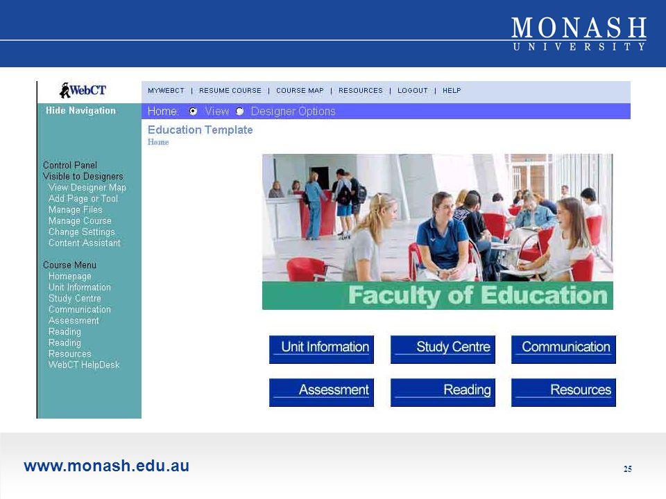www.monash.edu.au 25