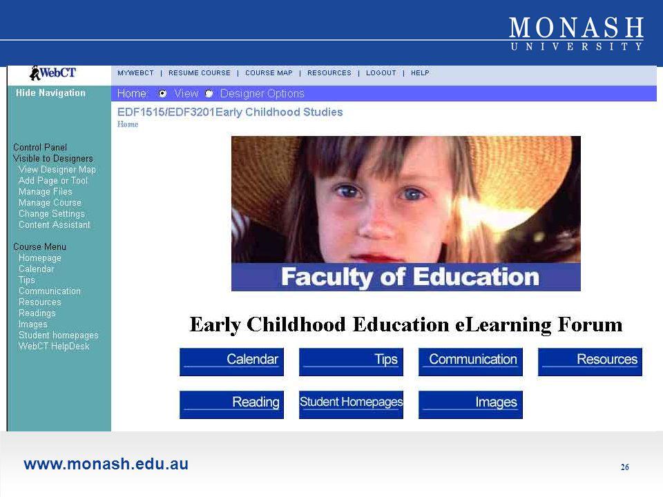 www.monash.edu.au 26