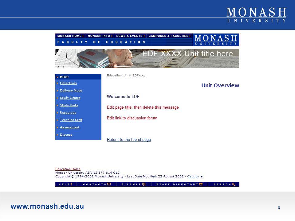 www.monash.edu.au 8