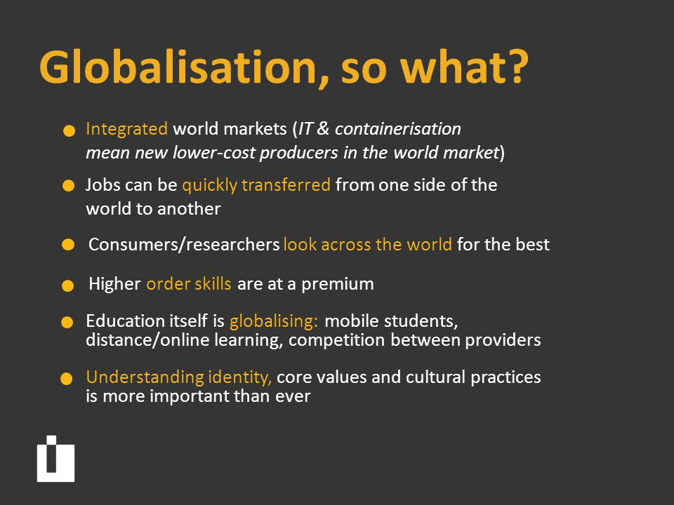 Globalisation, so what.