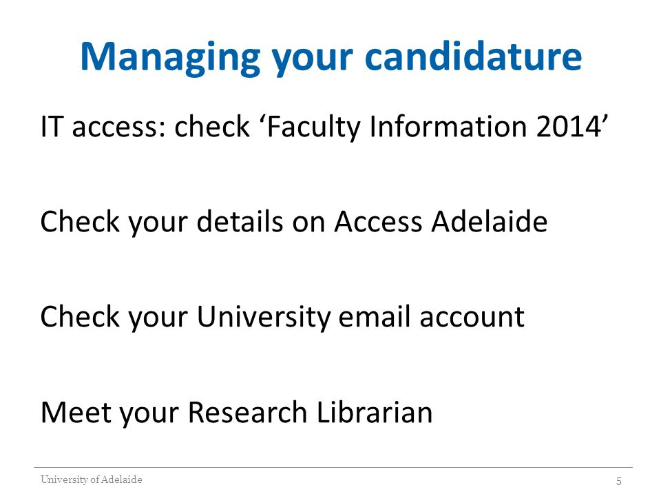 MAJOR REVIEW OF PROGRESS See forms and information at http://www.adelaide.edu.au/graduatecentre/forms/milestones/ http://www.adelaide.edu.au/graduatecentre/forms/milestones/ TO BE COMPLETED AT 12 months full time 24 Months part time Confirmation of Candidature OR Extended Major Review of Progress University of Adelaide16