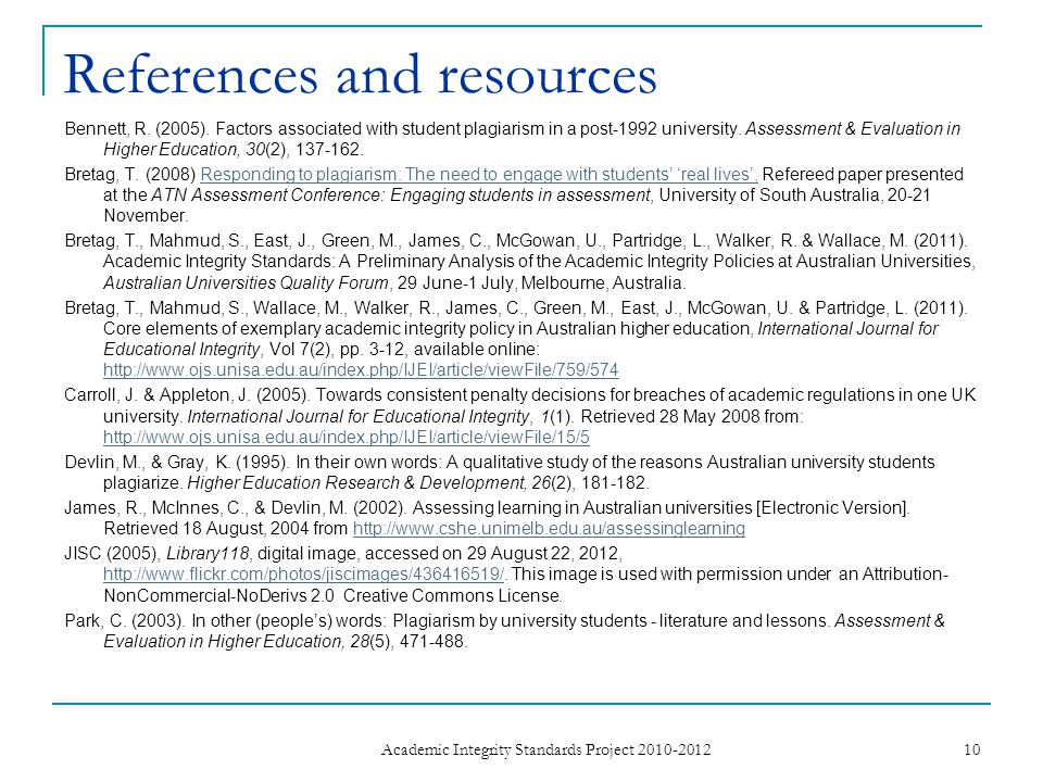 References and resources Bennett, R. (2005).