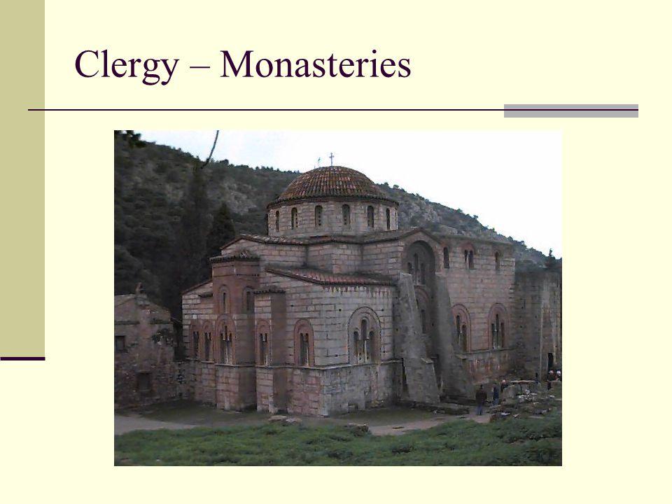 Clergy – Monasteries