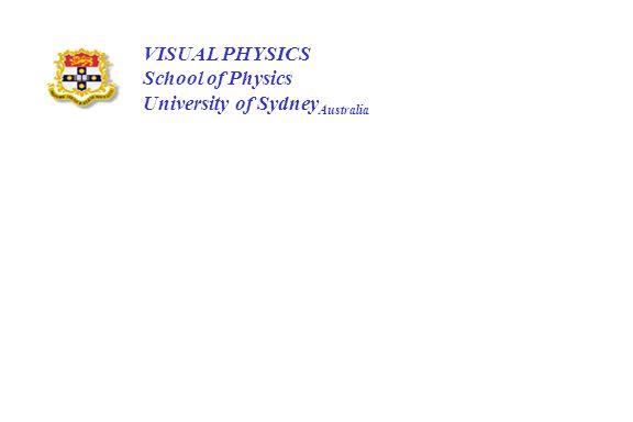 VISUAL PHYSICS School of Physics University of Sydney Australia