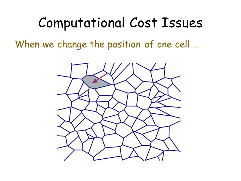 Computational Cost Issues When we change the position of one cell …