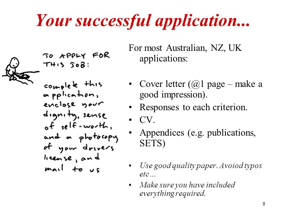 8 Your successful application...