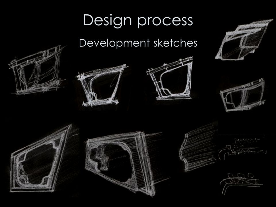 Design process Development sketches
