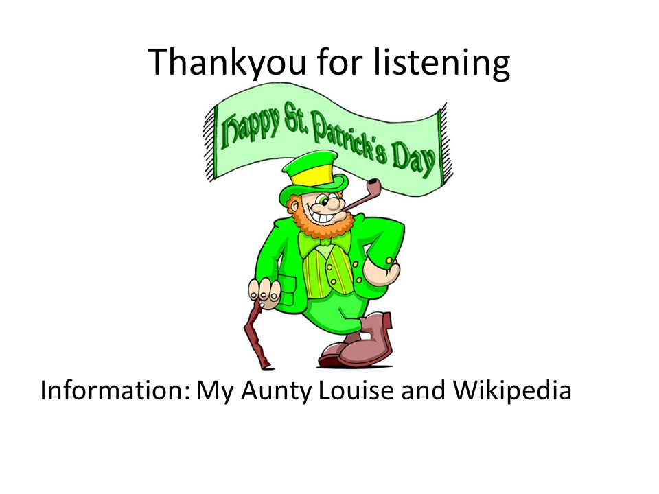 Thankyou for listening Information: My Aunty Louise and Wikipedia