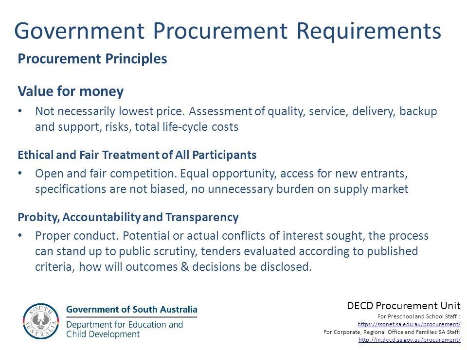 Main Documents / Steps for Major Procurements Acquisition Plan – Details the procurement strategy to be followed re the market approach, propose Evaluation Criteria and the findings of market research.