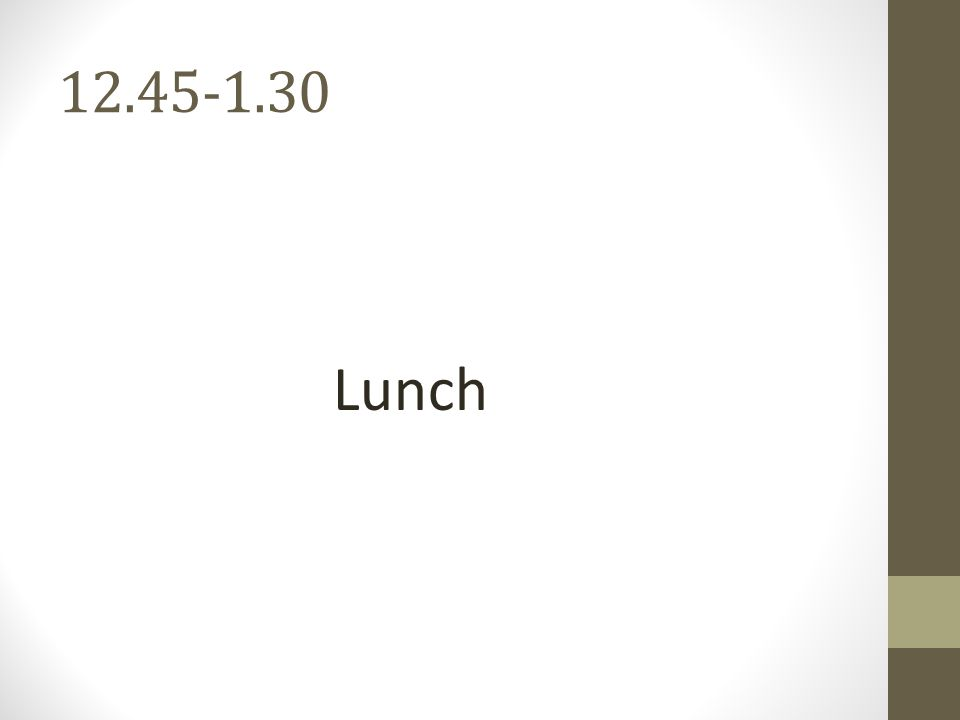 12.45-1.30 Lunch