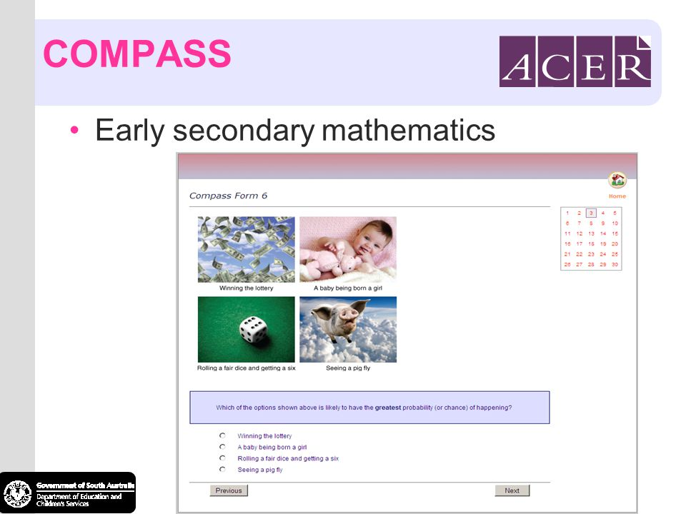 COMPASS Early secondary mathematics