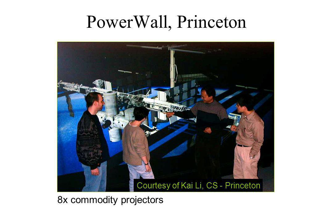 PowerWall, Princeton Courtesy of Kai Li, CS - Princeton 8x commodity projectors