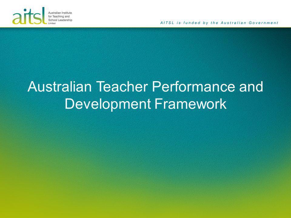 Australian Teacher Performance and Development Framework
