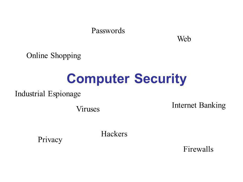 RESOURCEFUL RELIABLE RESPONSIBLE Computer Security Web Firewalls Viruses Passwords Internet Banking Online Shopping Privacy Industrial Espionage Hackers