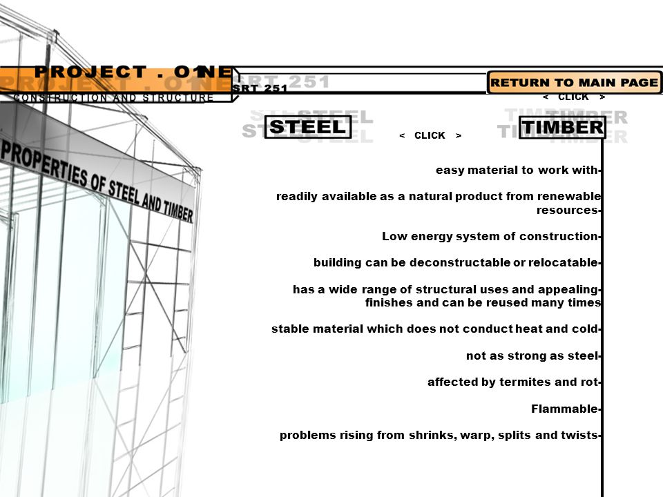 The structure that we'll look into will be as follows; POSTS / BEAMSPORTAL FRAMETRUSSESSPACE FRAME >CLICK ON THUMBNAILS< The selection of a generic type structure is based on a number of factors.