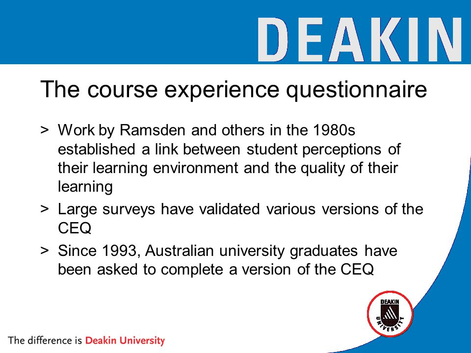 Interpreting SETU >The course materials in this unit were of high quality >Are students 'informed customers'.