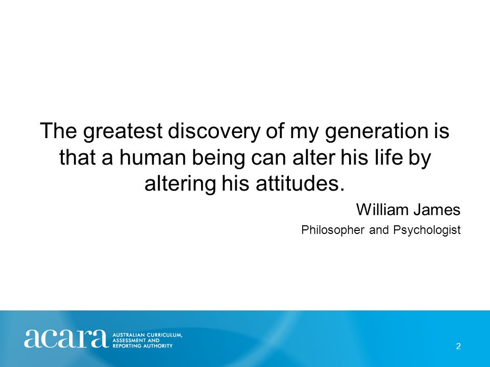 The greatest discovery of my generation is that a human being can alter his life by altering his attitudes.