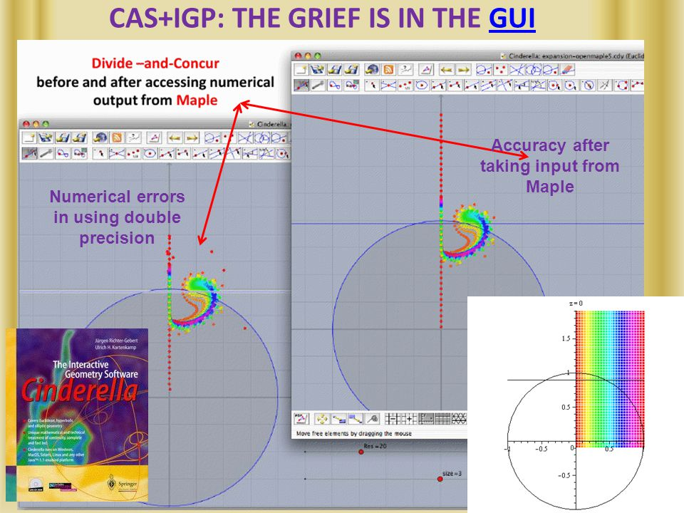CAS+IGP: THE GRIEF IS IN THE GUIGUI Numerical errors in using double precision Accuracy after taking input from Maple