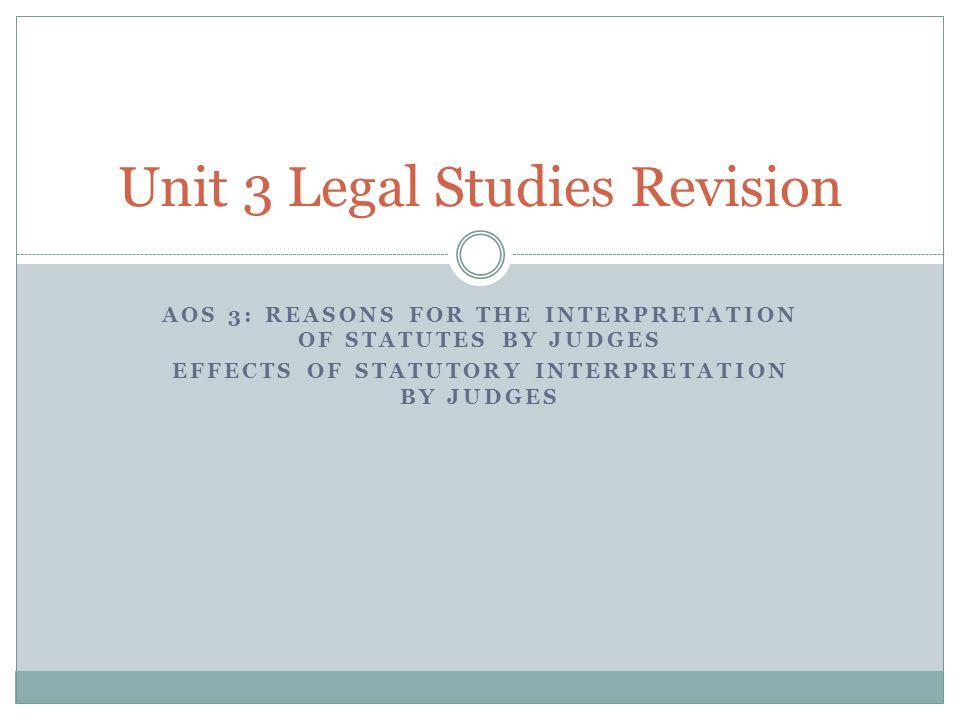 Statutory interpretation What is statutory interpretation.