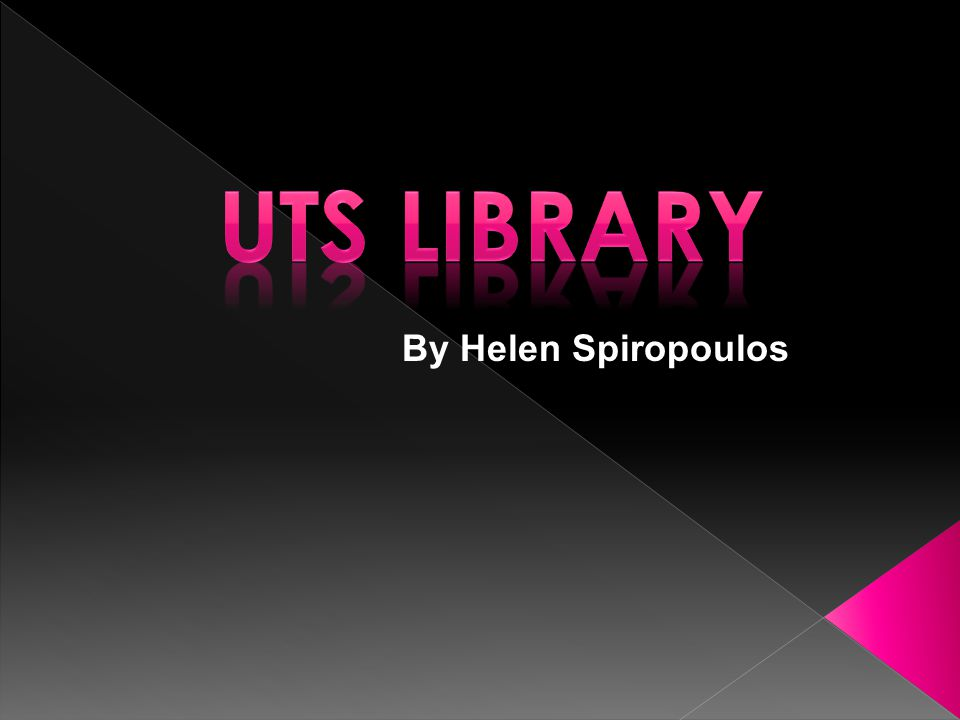 This database models the UTS Library Website: www.lib.uts.edu.auwww.lib.uts.edu.au It allows users to search for resources (book, journal, dvd, cd etc) by subject, author, title, category and publisher.